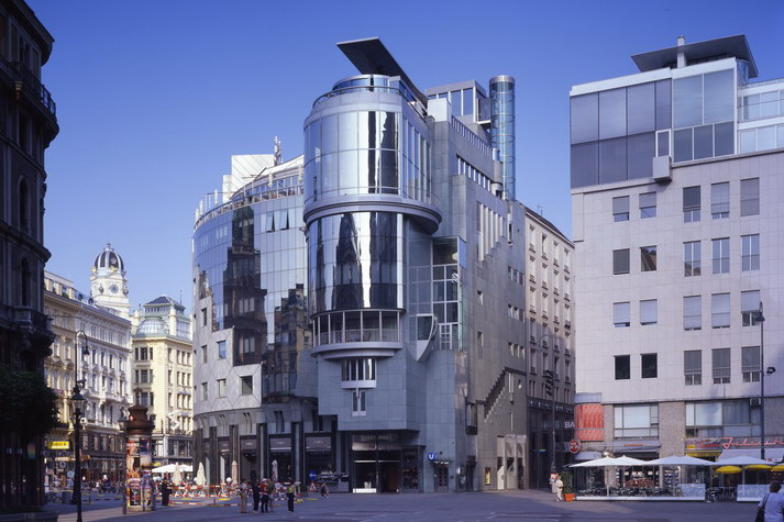 393 penthouse stephansplatz austria nations architecture home hans hollein com. Black Bedroom Furniture Sets. Home Design Ideas
