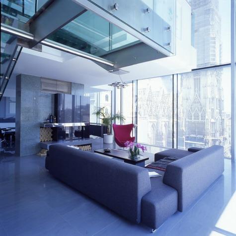 393 penthouse stephansplatz urbaner raum nach typus architektur home hans hollein com. Black Bedroom Furniture Sets. Home Design Ideas